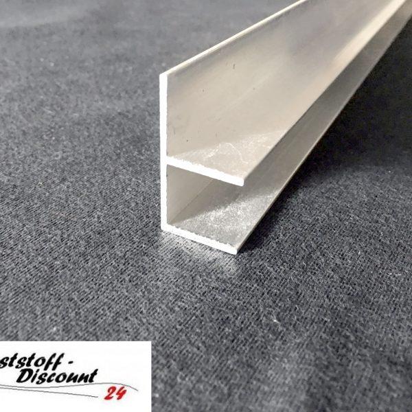 f profil f r 16mm platten aluminium kunststoffdiscount. Black Bedroom Furniture Sets. Home Design Ideas