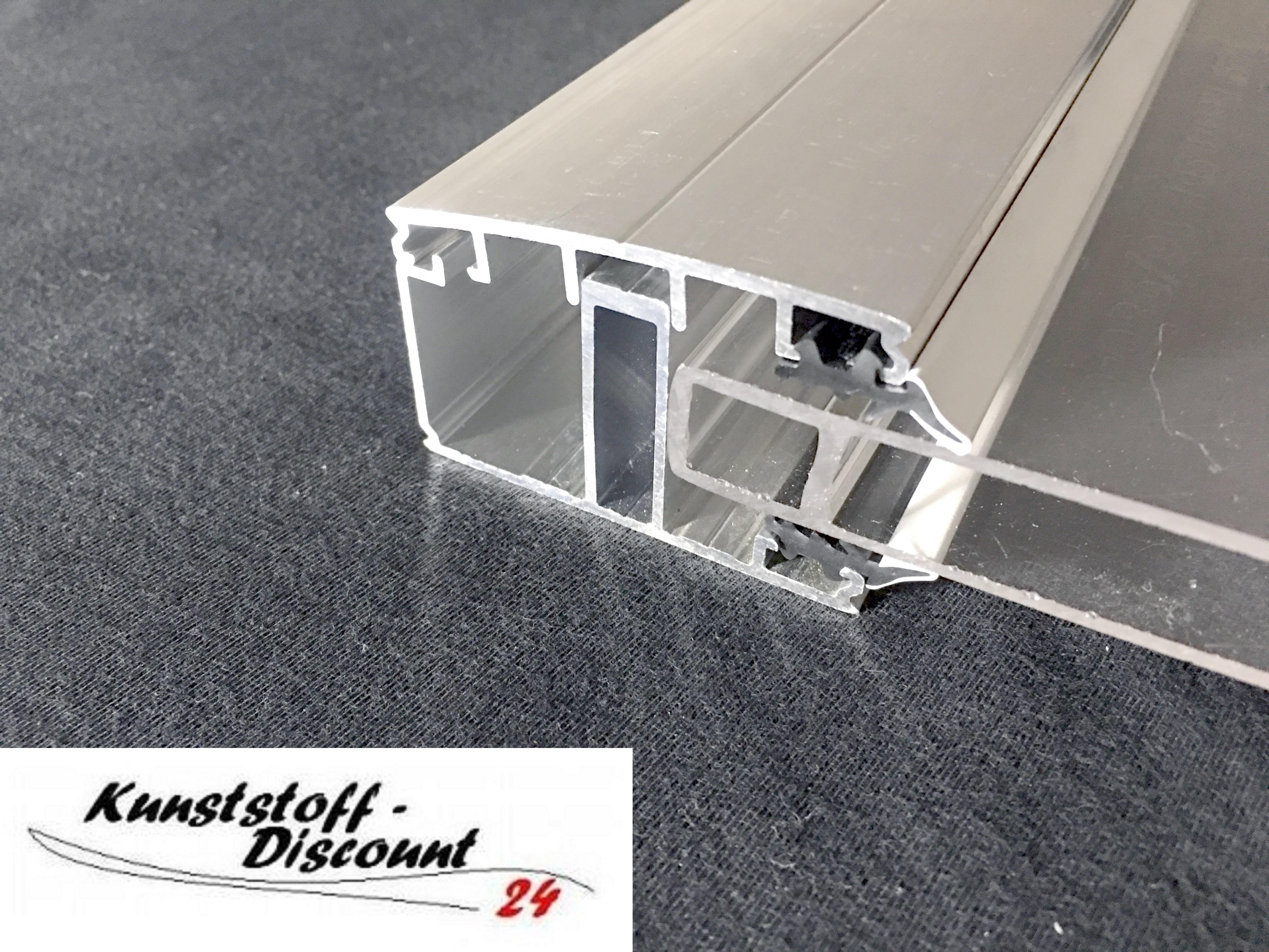 randsprosse f r 16mm stegplatten oder glas mit dichtungen und edelstahlschrauben. Black Bedroom Furniture Sets. Home Design Ideas