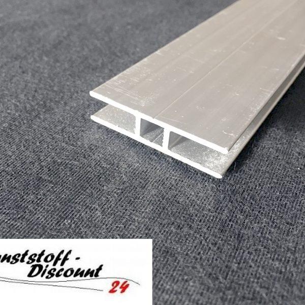 h profil f r 6mm platten aluminium kunststoffdiscount. Black Bedroom Furniture Sets. Home Design Ideas