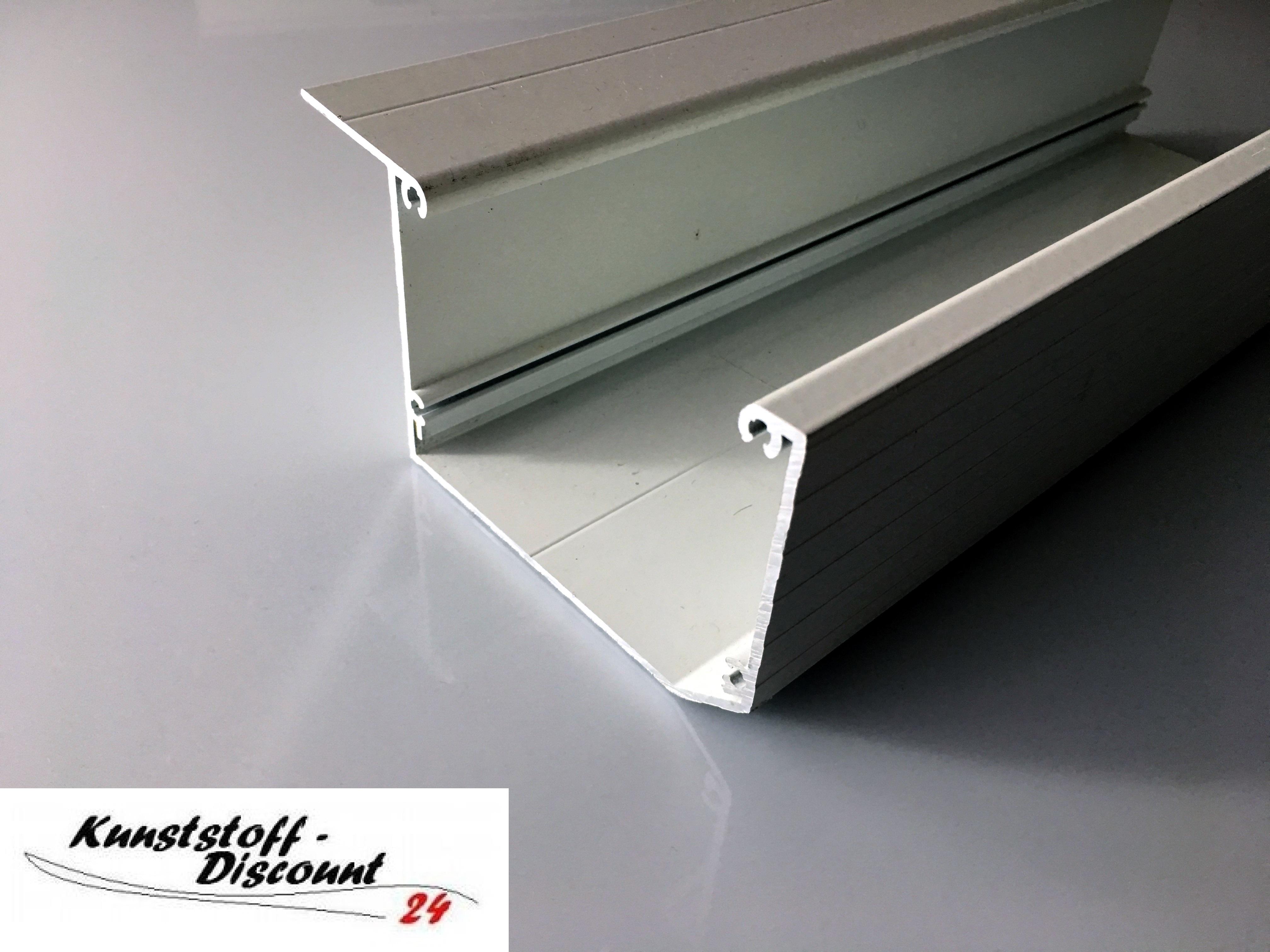 Kastendachrinne alu  Kastenrinne weiß in RAL 9016 Aluminium pulverbeschichtet ...