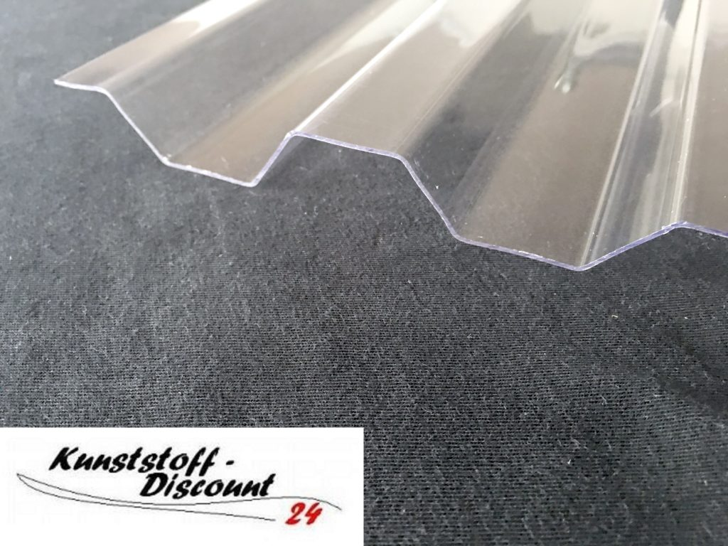 lichtplatte pet polycarbonat farblos klar 76 18 trapezprofil spundwand kunststoffdiscount. Black Bedroom Furniture Sets. Home Design Ideas