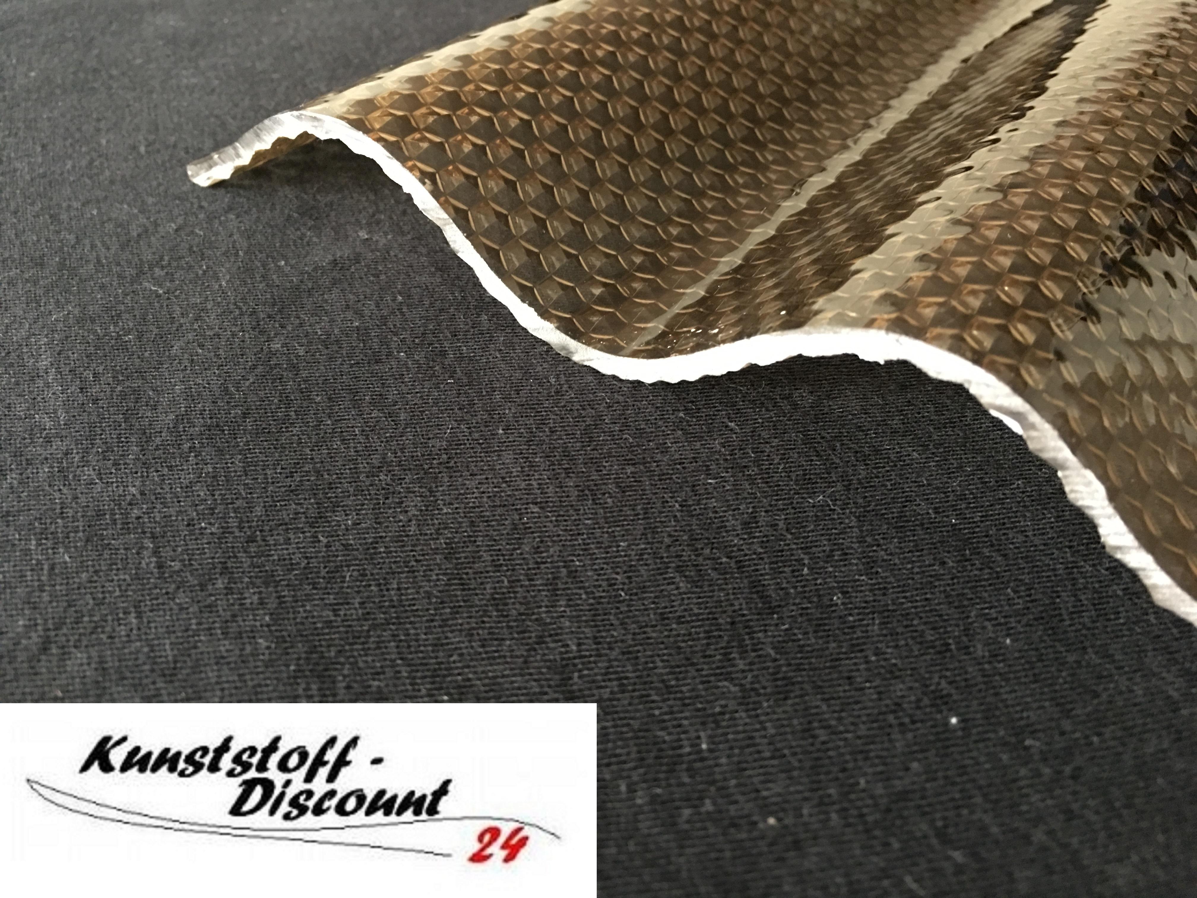 Wellplatten Plexiglas Resist Bronze Braun Wabe 7618 Sinusprofil Sonderposten